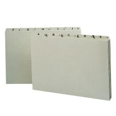 Smead Preprinted Pressboard A Z File