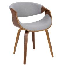 LumiSource Curvo Chair WalnutLight Gray