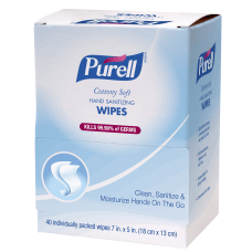 Purell Hand Sanitizing Wipes Unscented Box