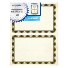 Geographics Crown Gold Parchment Mini Certificates