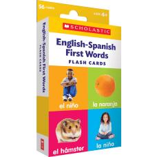 Scholastic English Spanish First Words Flash