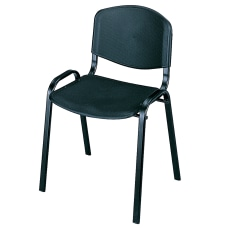 Safco Stack Chairs Black Set Of