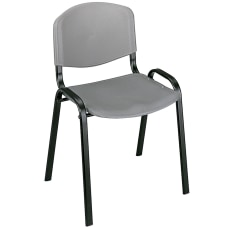 Safco Stack Chairs Charcoal Set Of