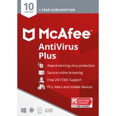 McAfee Antivirus Protection Plus 10 Devices