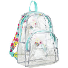 Eastsport Clear PVC Backpack Floral Print