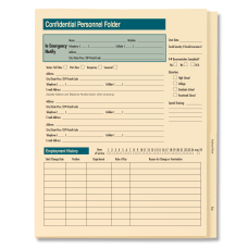 ComplyRight Expandable Confidential Personnel Folders 9
