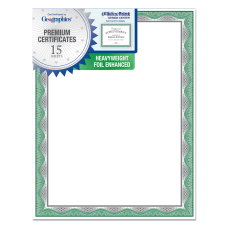 Geographics Heavyweight Foil Certificates 8 12