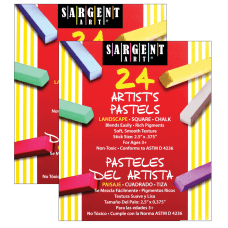 Sargent Art Square Chalk Pastels Assorted