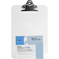 Sparco Plastic Clipboard 6 x 9