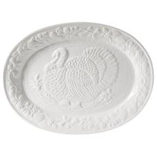 Gibson Home Ceramic Turkey Platter 18