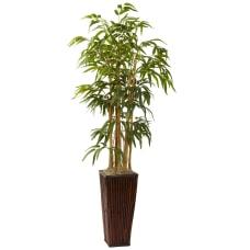Nearly Natural 4H Silk Bamboo Tree