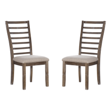 Powell Wade Side Chairs Natural Set