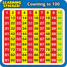 Scholastic Reinforcement Stickers Counting To 100