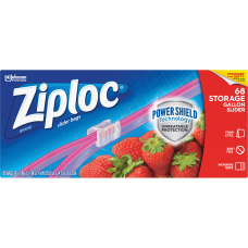 Ziploc Gallon Storage Slider Bags Large