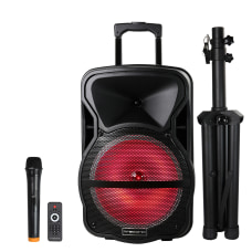 Trexonic Combination Bluetooth Portable Speaker Black