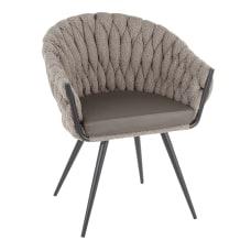 LumiSource Braided Matisse Chair BlackGray