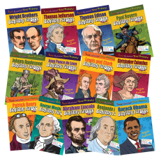 Gallopade Biography FunBooks Set Presidents Explorers