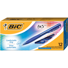 BIC BU3 Grip Retractable Ballpoint Pens