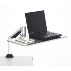 Safco Desktop SitStand Laptop Workstation Silver