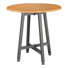 Vari Standing Round Table Butcher Block