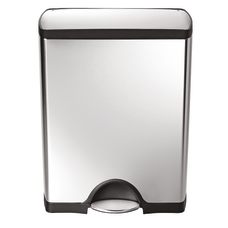 simplehuman Rectangular Metal Step Trash Can