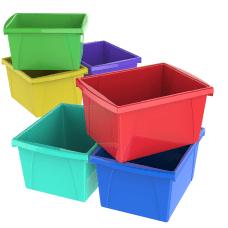 Storex Classroom Storage Bins 4 Gallons