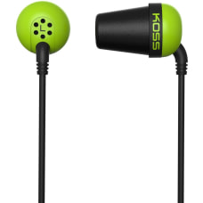 Koss Plug Earphone Stereo Green Black