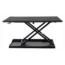 Luxor Pneumatic Adjustable Desk Converter Black