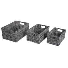 Realspace 3 Piece Storage Basket Set