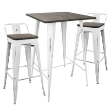 Lumisource Oregon Industrial Pub Table With