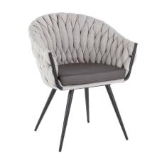LumiSource Braided Matisse Chair BlackGrayCream