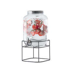Glass Tabletop Beverage Dispenser 2 Gallons
