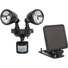 Maxsa Solar Powered Dual Head LED