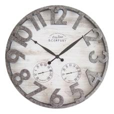 FirsTime Co Shiplap Outdoor Wall Clock