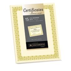 Southworth Premium Foil Certificates 8 12