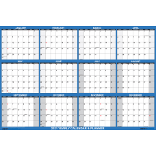 SwiftGlimpse Oversized Erasable Wall Calendar 48