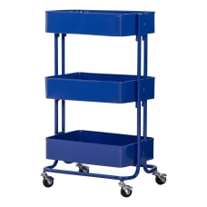Linon Watkins 3 Tier Metal Storage