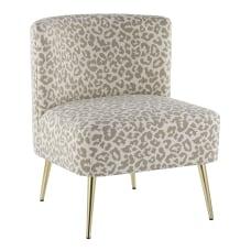 LumiSource Fran Slipper Chair GoldTan Leopard