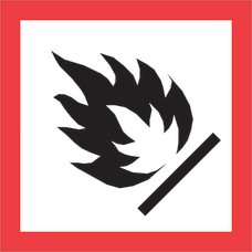 Tape Logic Pictogram Labels DL4241 Flame