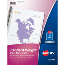 Avery Standard Weight Sheet Protectors For