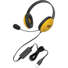 Califone Yellow Stereo Headset w Mic