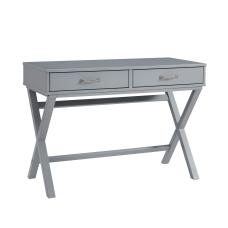 Linon Frances 42 W Desk Gray