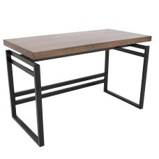 Lumisource Drift Industrial Desk WalnutBlack