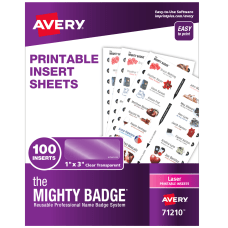 Avery The Mighty Badge Inserts For