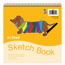 Art Street Sketch Book 9 x
