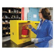 Yellow Countertop Compact Cabinets Self Closing