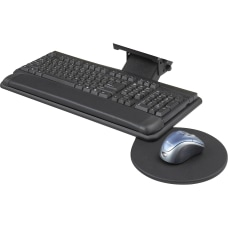 Safco Swivel Mouse Tray Adjustable Keyboard