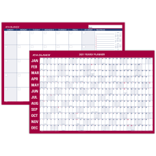 AT A GLANCE Horizontal Erasable MonthlyYearly
