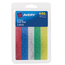Avery Foil Stars 12 Assorted Pack