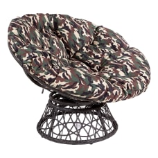 Office Star Papasan Chair CamoBlack